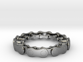 RS CHAIN RING SIZE 7 in Fine Detail Polished Silver