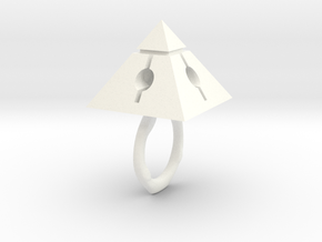 Pyramids Core in White Processed Versatile Plastic