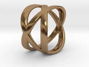 Tre Ring in Natural Brass