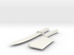 Bill the Butcher - Fight Knife and Cleaver in White Natural Versatile Plastic