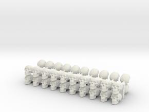 40 Skulls in White Natural Versatile Plastic