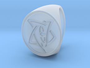 Elder Sign Signet Ring Size 8.5  in Smooth Fine Detail Plastic