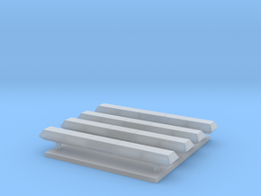 Lichtbak rechthoekig 4 stuks breed 24 mm in Smooth Fine Detail Plastic