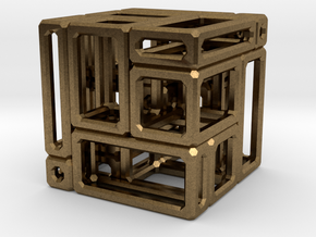 A Simple Imperfect Bricked Cube (SIBC) in Natural Bronze