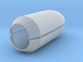 Falcon 9 Large Payload Fairing in Smooth Fine Detail Plastic: 1:200