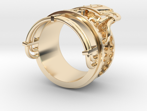 Steampower ring v2 in 14K Yellow Gold