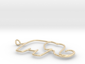 Linking Elephants Necklace in 14K Yellow Gold