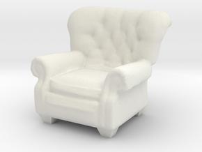1:24 Armchair in White Natural Versatile Plastic