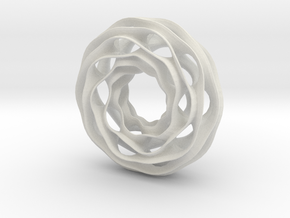 Twisted Torus 10-6 in White Strong & Flexible