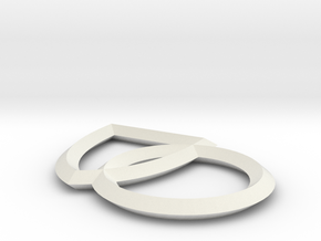 Single Plane Interlocking Seals in White Natural Versatile Plastic