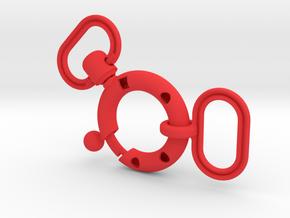 Buckle V2 in Red Processed Versatile Plastic