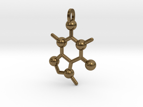 Coffee Molecule in Natural Bronze