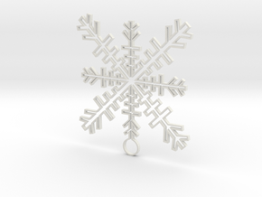 Ice Crystal   in White Natural Versatile Plastic