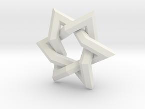 Star of David in White Natural Versatile Plastic