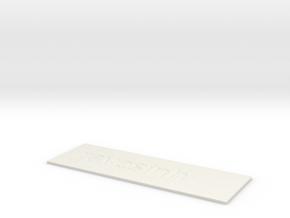 by kelecrea, engraved: ravesinh in White Natural Versatile Plastic