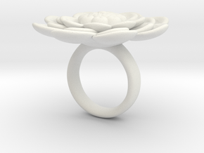 Sbosos 003 (6 cm inner ring) in White Natural Versatile Plastic