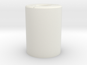 Power Core Battery Fixture in White Natural Versatile Plastic