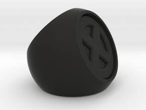 XMEN Ring in Black Natural Versatile Plastic
