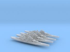 1/3000 UK Lion class battleship (1939) x4 in Smooth Fine Detail Plastic