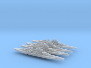 48UK03X2 Lion class battleship (1939) x4 in Smooth Fine Detail Plastic