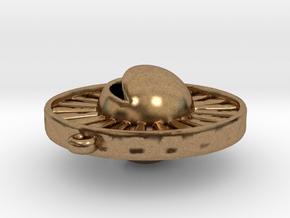 Sun & Moon Pendant in Natural Brass