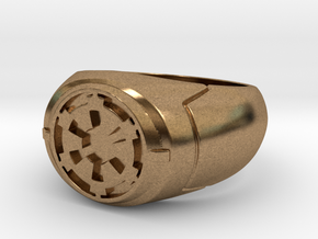 Imperial Signet Ring in Natural Brass