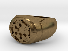 Imperial Signet Ring in Natural Bronze