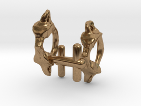 Atlas Vertebra (C1) Cufflinks in Natural Brass