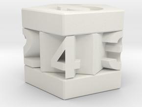 D-7 Pentagonal Die in White Natural Versatile Plastic