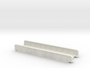 UP RR 110mm SINGLE TRACK VIADUCT in White Natural Versatile Plastic