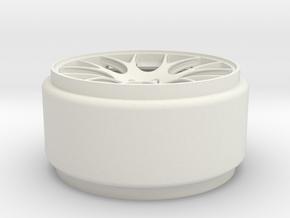 1-18 REAR WHEEL in White Natural Versatile Plastic