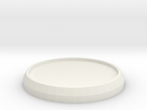 1 Inch Round Base in White Natural Versatile Plastic
