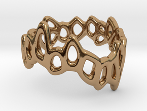 Meshring 03 in Polished Brass