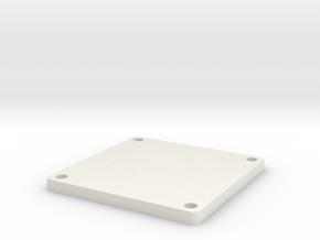 Belt Plaque 7 in White Natural Versatile Plastic