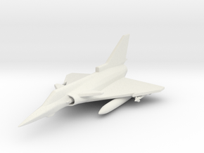 1/285 (6mm) Israeli Kfir  in White Natural Versatile Plastic