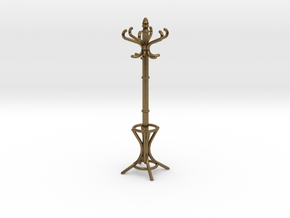 1:24 Miniature Coatrack in Natural Bronze