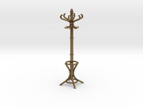 1:24 Miniature Coatrack in Natural Bronze