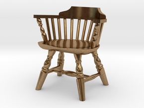 1:24 Low Back Windsor Chair in Natural Brass
