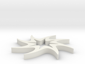 Twisted 8-pointed Star in White Natural Versatile Plastic