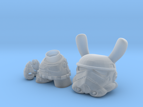 3 inch Trooper bunny  in Smooth Fine Detail Plastic