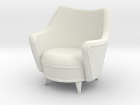 1:24 Moderne Tub Chair in White Natural Versatile Plastic