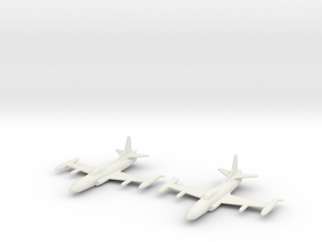 1/200 Lockheed F-94C Starfire (x2) in White Natural Versatile Plastic