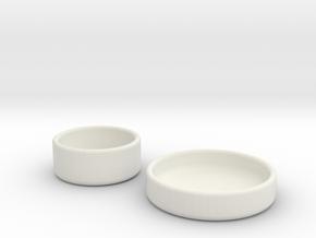 Petri Dish and Lid 35mm in White Natural Versatile Plastic
