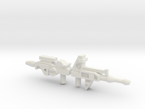 Robo Guns JZ + PRL in White Natural Versatile Plastic