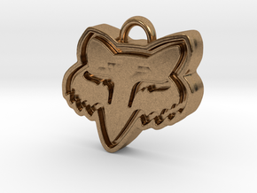 Charming Fox Racing Logo in Natural Brass