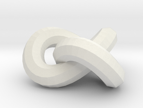 Neverending-knot-15mm. pendant / earring / necklac in White Natural Versatile Plastic