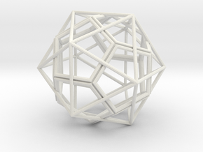 IcosoDodeca Wire 1 4cm in White Natural Versatile Plastic