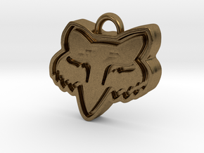 Charming Fox Racing Logo in Raw Bronze