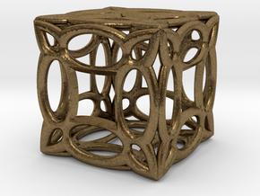 Cubic fractal BV3 in Natural Bronze