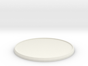 Round Model Base 60mm in White Natural Versatile Plastic